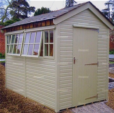 Malvern Stanford Apex Shed Painted Cedar